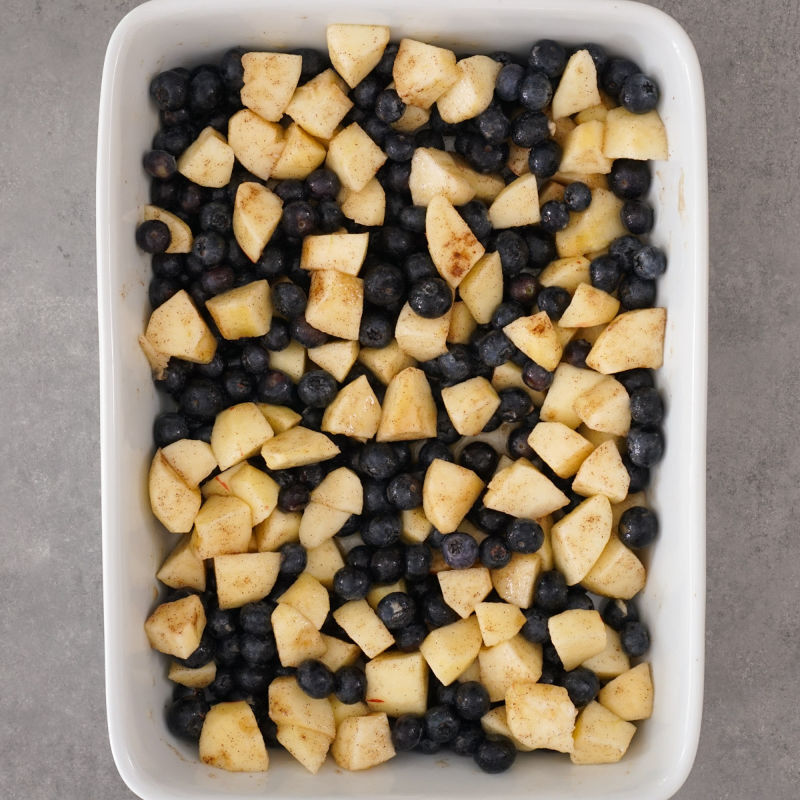 Apple blueberry mixture