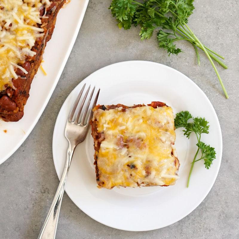 Tuna cornbread casserole from above