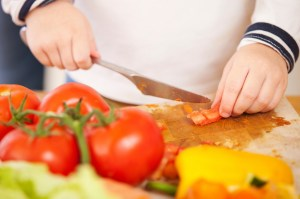 child-cutting-vegetables-300x199 10 Tips To Raise Fit Kids Who Like To Eat REAL Healthy food!