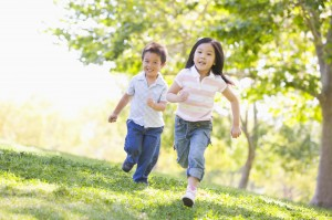 kids-running-outside-300x199 10 Tips To Raise Fit Kids Who Like To Eat REAL Healthy food!