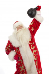 santa-with-a-kettlebell-200x300 20 Fun Gift Ideas for the REAL FOOD Foodie's and Health Nuts in your Life!
