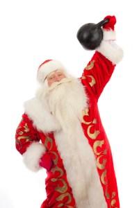 "santa-with-a-kettlebell-200x300 10 last minute ""healthy"" gift ideas!"