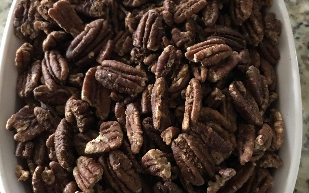 Maple Cinnamon Roasted Pecans