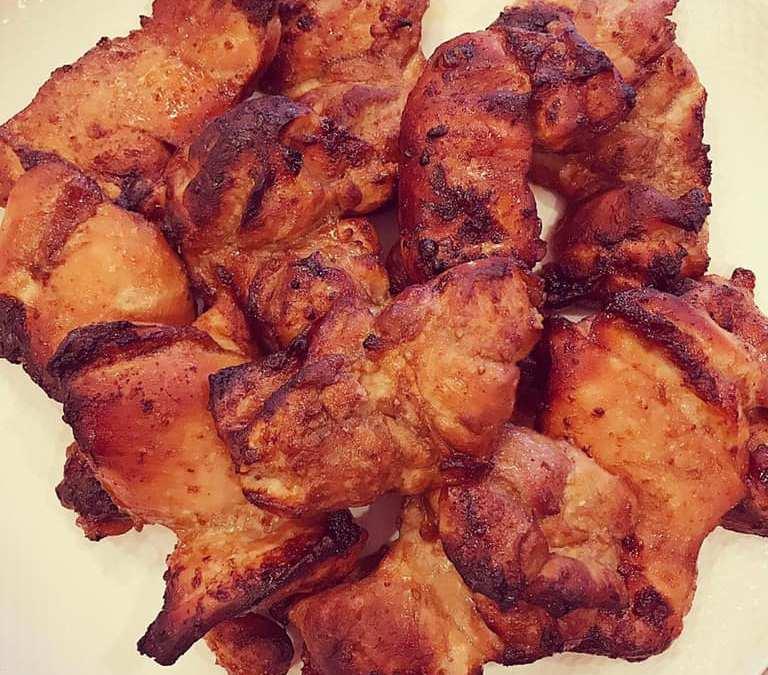 Crispy Marinated Chicken Thighs