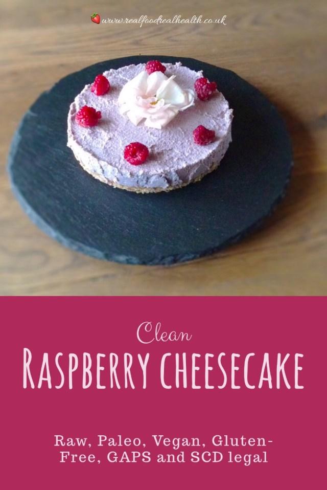 Clean Raspberry Cheesecake