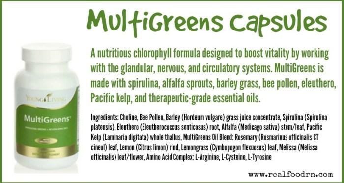 MultiGreens Capsules | Real Food RN