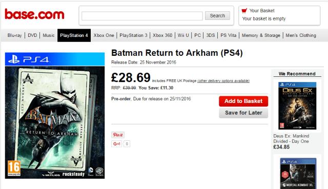 batman return to arkham leak