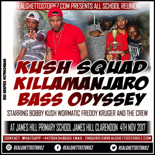 KUSH SQUAD X KILLAMANJARO X BASS ODYSSEY AT ALL SCHOOL REUNION 4TH NOVEMBER 2017