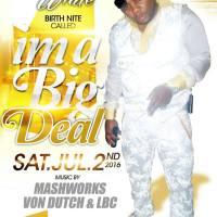 SIR KUTT I'M A BIG DEAL YELLOW AND WHITE BIRTHDAY BASH JULY 2016