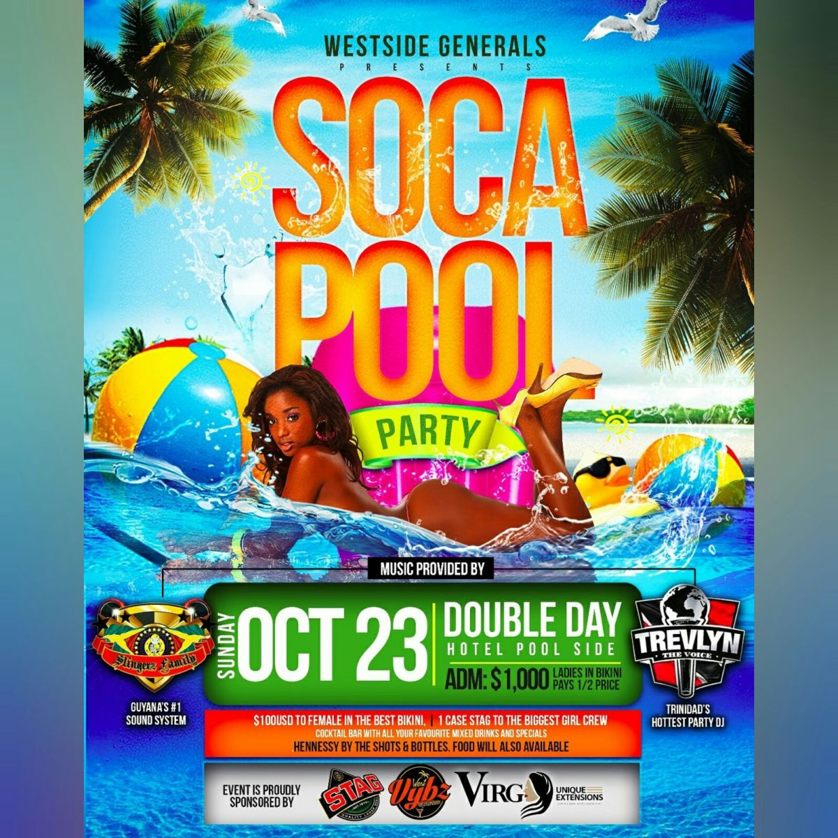 SLINGERZ FAMILY LS TREVLYN AND SELECTOR KEINON DIE HARD AT SOCA POOL PARTY OCTOBER 2016