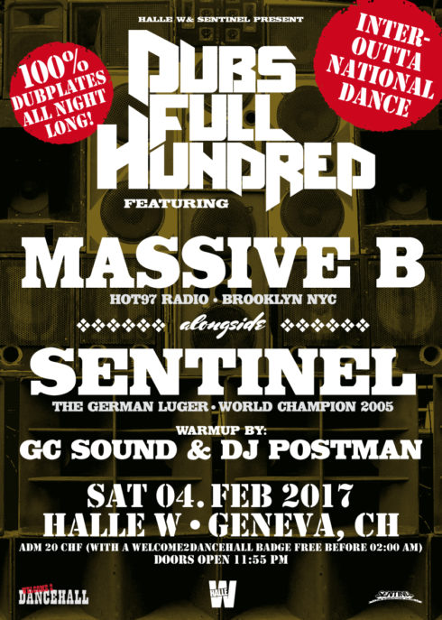 DUBS FULL HUNDRED FT. MASSIVE B(USA) & SENTINEL(GER) IN GENEVA