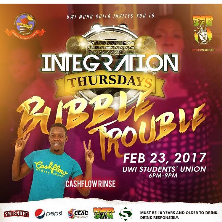 CASHFLOW RINSE LIVE AT INTEGRATION THURSDAY FEB 23,2017
