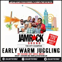 THE MIGHTY JAMROCK EARLY WARM JUGGLING IN THE GARDEN 24TH MARCH 2017
