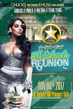 THE ANNUAL ALL SCHOOL REUNION IS BACK IN NOVEMBER 2017