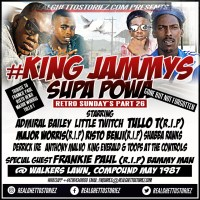 RETRO SUNDAY'S PART 26 -KING JAMMYS  TRIBUTE TO FRANKIE PAUL, TULLO T, RISTO BENJI AND MAJOR WORRIES