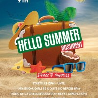DJ INSANEO FROM REBEL SOUND AND DJ CHARLIE FROSS NEXXT GENERATIONZ SOUND AT HELLO ITS SUMMER. JUNE 2017