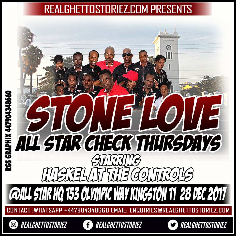 STONE LOVE AT ALL STAR CHECK THURSDAYS 28TH DEC 2017