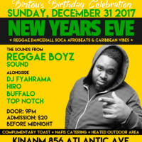 REGGAEBOYZ SOUND NEW YEARS EVE PARTY IN BROOKLYN NEW YORK 31ST DEC 2017