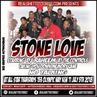 STONE LOVE AT ALL STAR THURSDAYS 5TH JULY 2018