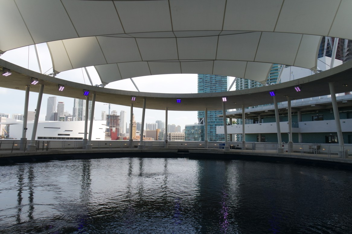Top of the aquarium on the 4th floor