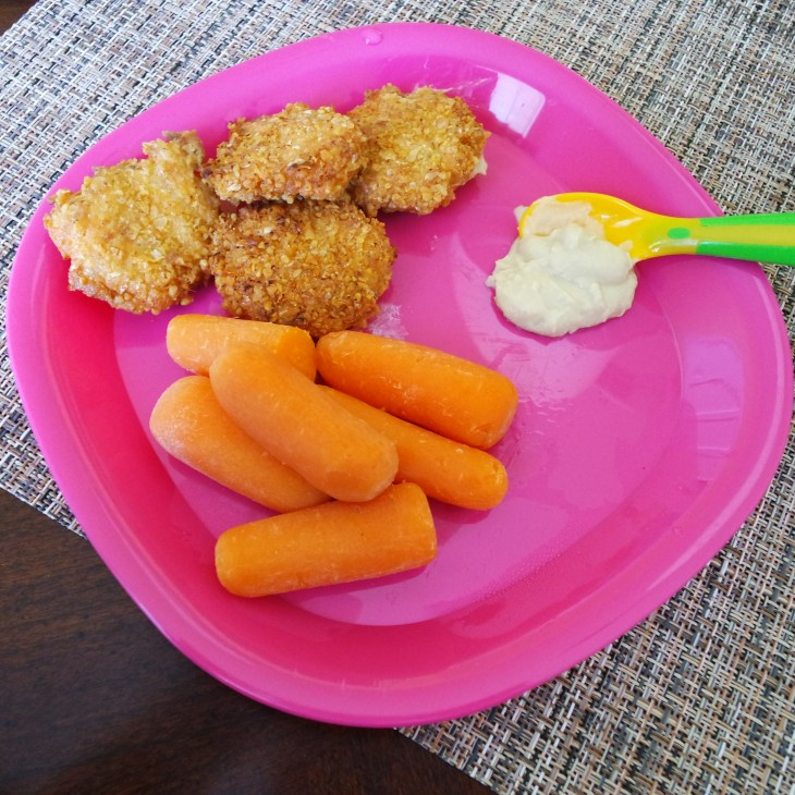 Salmon cakes and carrots