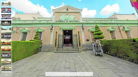 La Academia de Artillería de SEGOVIA se puede visitar de forma virtual