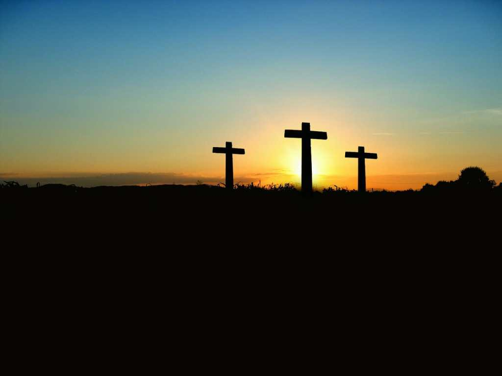 cross, sunset, sunrise
