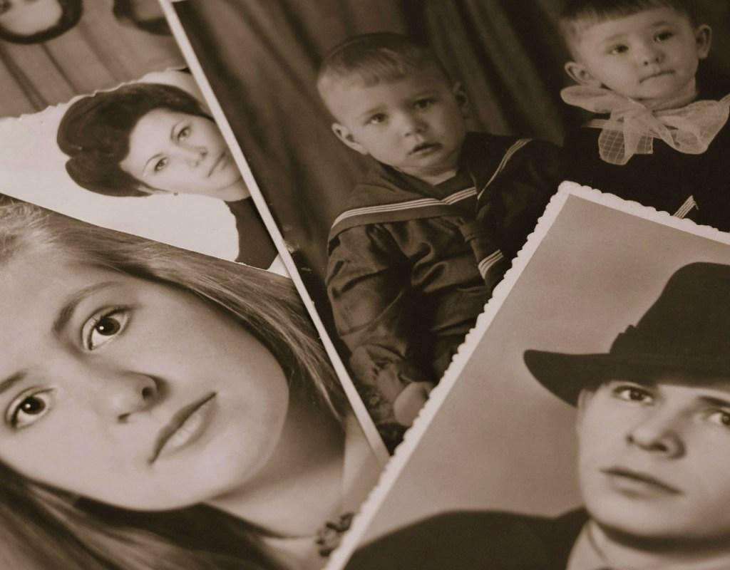 retro, photo album, memory