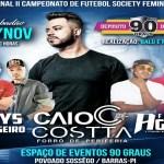 Espaço de Eventos 90 Graus em Barras apresenta: Caio Costa em show inesquecível