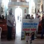 Igreja Celebra Missa da Educação durante o festejo de Nossa Senhora do Livramento