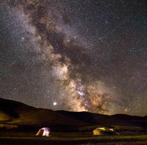 céu com pouca poluição luminosa