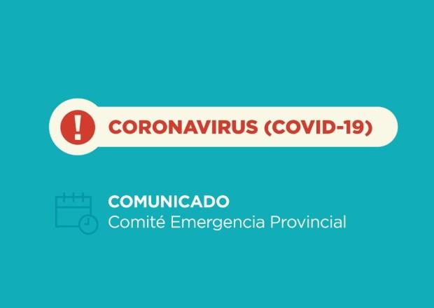Informe del Comité de Emergencia Provincial: 78 nuevos casos y 52 recuperados
