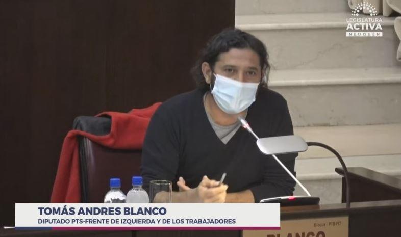 El diputado provincial, Andrés Blanco, arremetió contra el MPN
