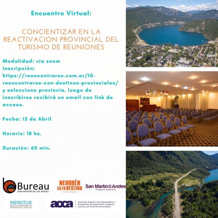 Hoy se desarrolla una capacitación para concientizar la reactivación provincial del turismo de reuniones