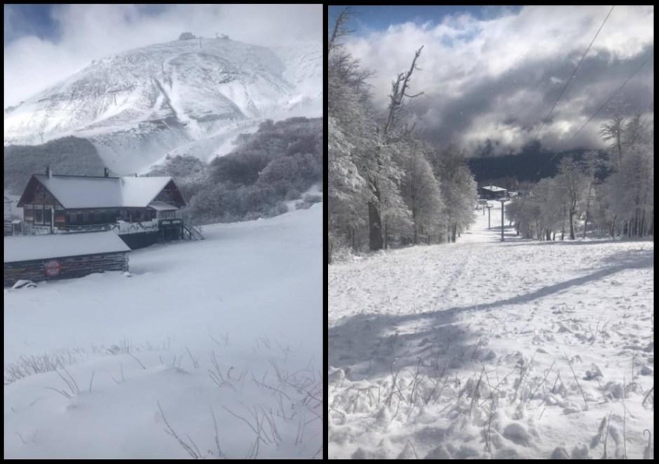 Así luce el Cerro Chapelco con las nevadas de las últimas horas