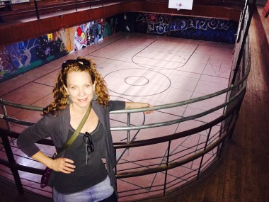 The psychedelic church gym.
