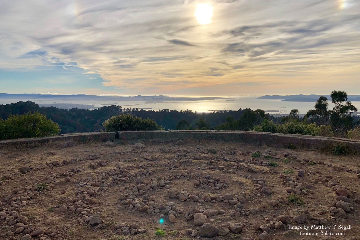 Labyrinth in Tilden Park overlooking San Francisco Bay : image by Matthew T. Segall : footnotes2plato.com
