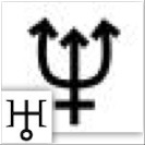 Glyphs for Neptune and Uranus
