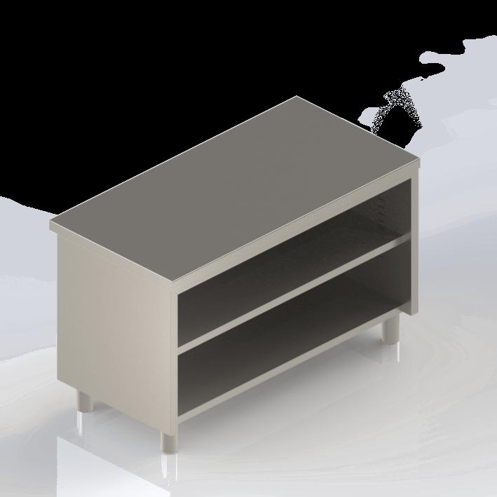 meuble inox bas ouvert professionnel