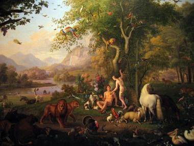 Adam and Eve in the Garden of Eden, by Wenzel Peter, Pinacoteca Vaticana