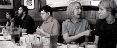 Family out to eat on vacation 2009