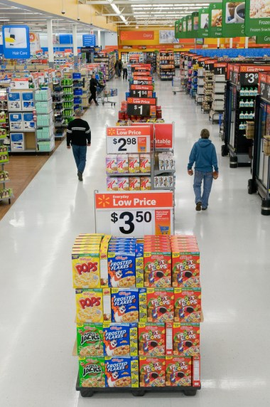 "Walmart's ""Action Alley"" Display Signs Feature Value and Convenience on Popular Shopping Items"