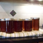 Jars of syrup