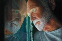 """Autor: Kalos Villalba -Título: """"..pero ningún hombre habita solo"""" -Dimensiones y tecnica: 100x66cm, óleo sobre lienzo. 2013"""