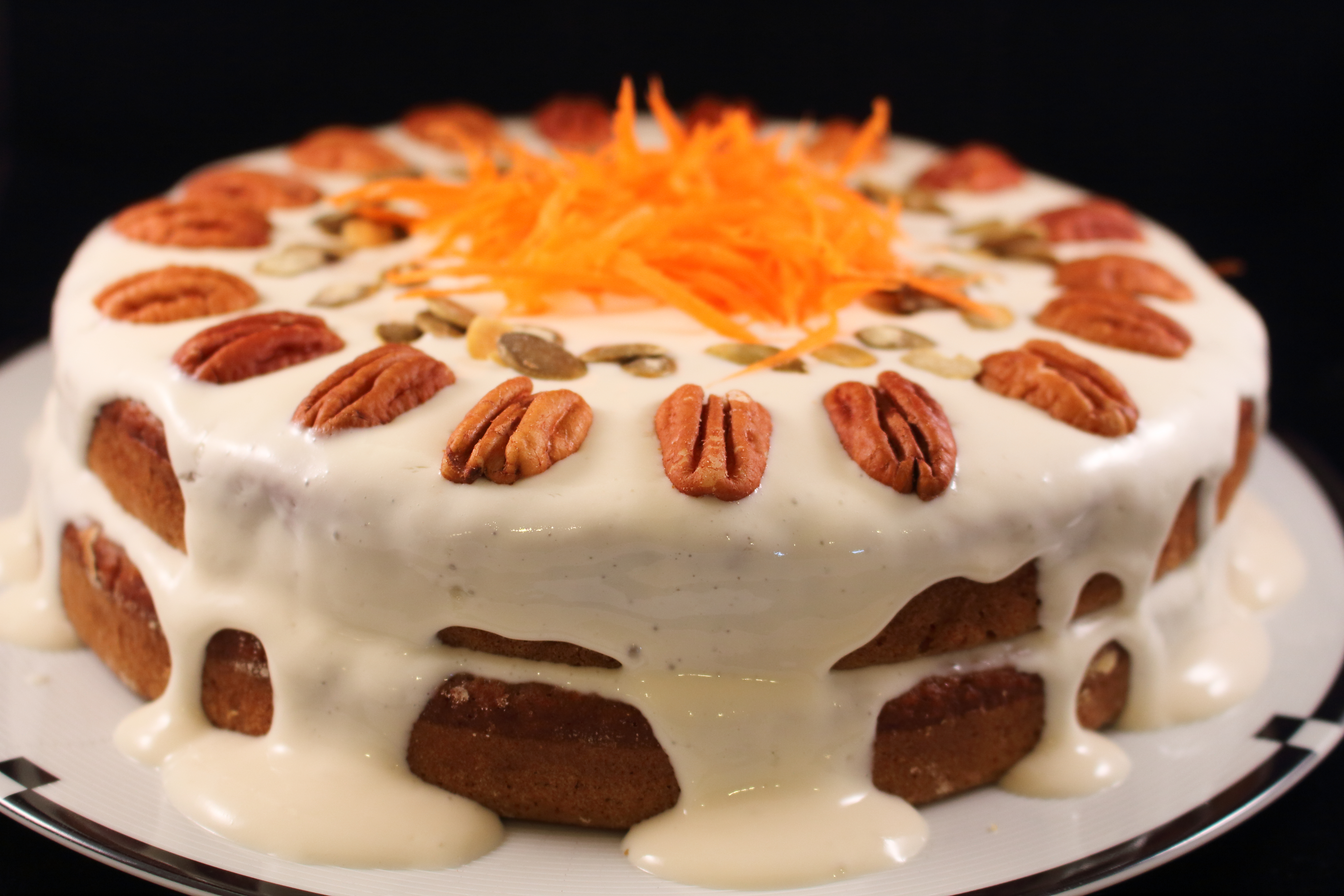A Healthier Carrot Applesauce Spice Cake With A Tofu Cream