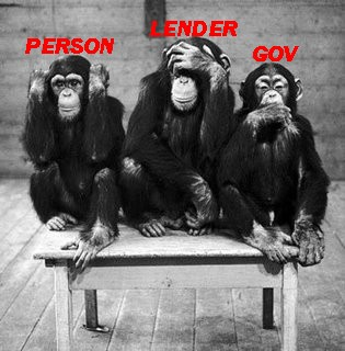 """The three """"wise"""" monkeys of the story"""