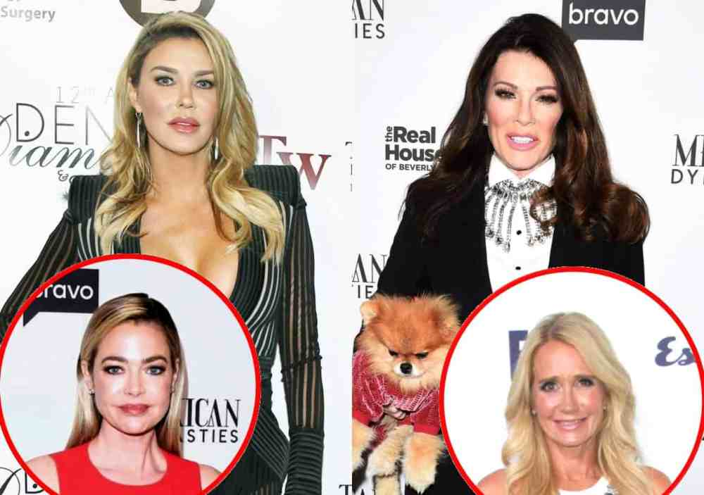 RHOBH Alum Brandi Glanville Calls Out Lisa Vanderpump For Talking About Her on Podcast, Accuses Denise's Team of Leaking 'Hookup' Rumors With Kim Richards to Press, and Claims It's Hurting Friendship