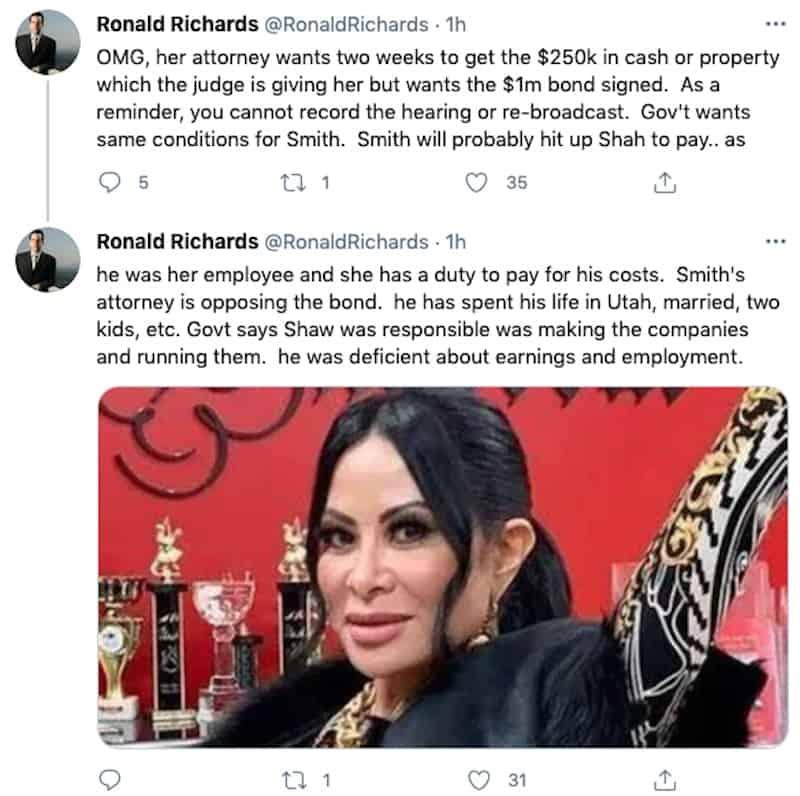 Judge Wants $1 Million Bond Signed From Jen Shah