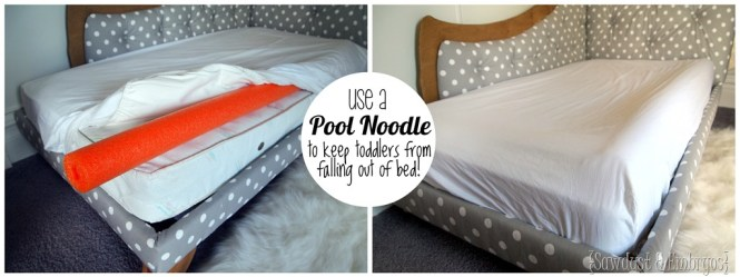 Use A Pool Noodle Under The Mattress Pad To Create Lip And Keep