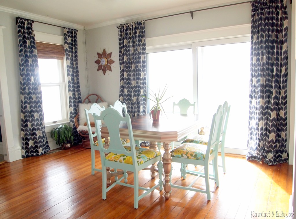 Dining Room Curtains AT LAST! - Reality Daydream on Dining Room Curtains  id=70311